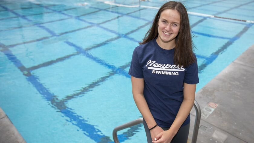 Ayla Spitz of Newport Harbor girls' swimming is the Female Athlete of the Week.