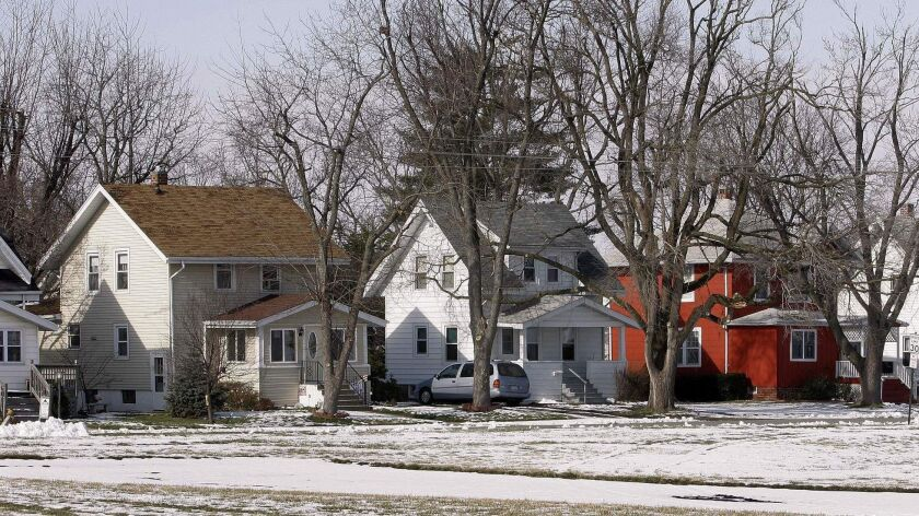 ** ADVANCE FOR SUNDAY, APRIL 15 **A row of Sears homes is seen in Carlinville, Ill., Wednesday, Jan