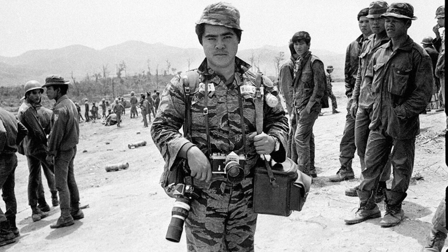 Associated Press staff photographer Nick Ut in South Vietnam in an undated photo.