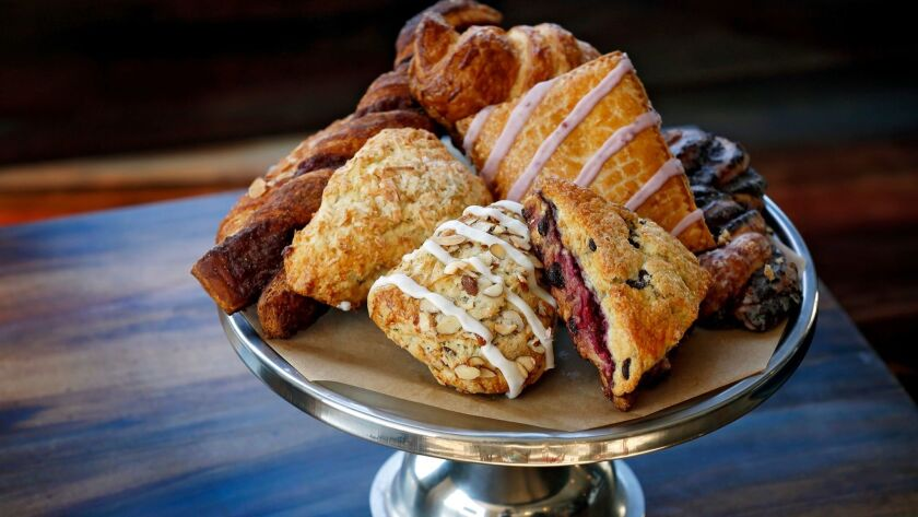 A tower of pastry perfection from Blackmarket Bakery.