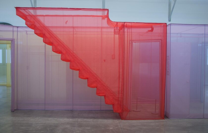 'Side view, with staircase' by Do Ho Suh