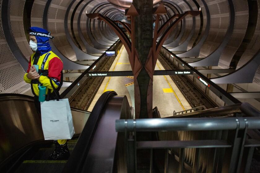 Empty Metro station during coronavirus