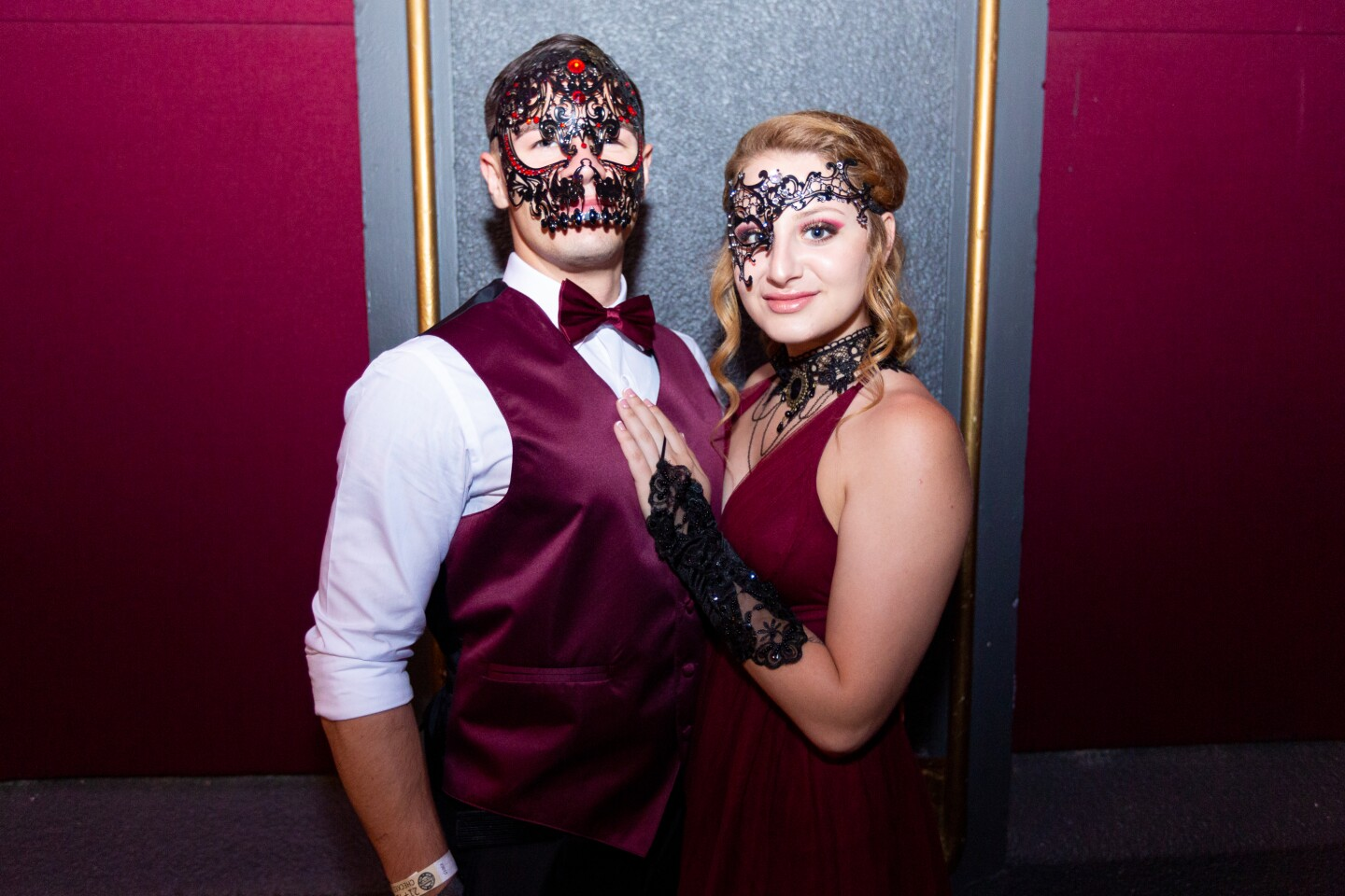 Guests at A Midsummer Masquerade Ball: French Follies donned masks for an opulent night of live entertainment at The Observatory North Park on July 27, 2019.