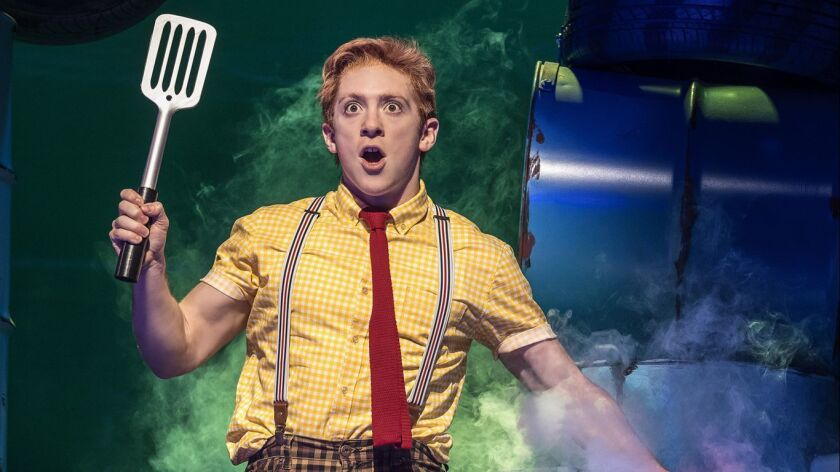 In his Broadway debut, Ethan Slater earned a Tony nomination for playing SpongeBob SquarePants.