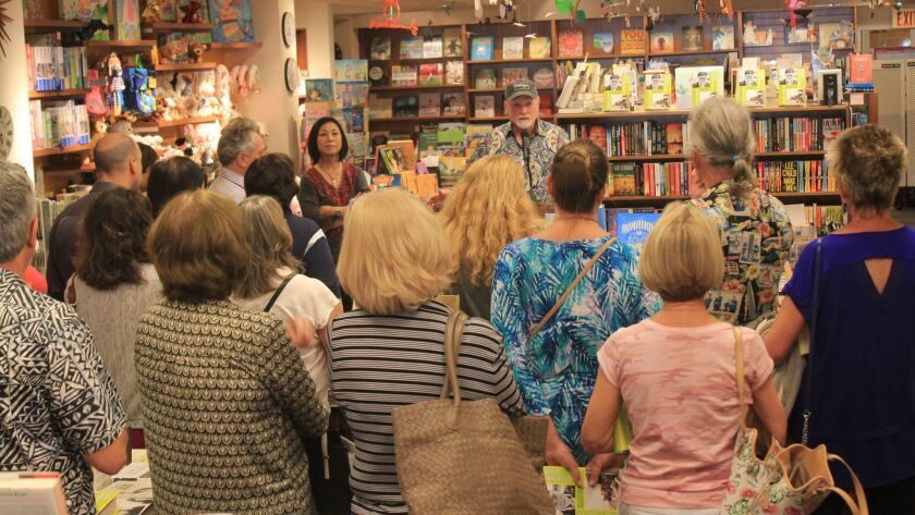 A full house welcomes Mike Love to Warwick's bookstore, Sept. 23.