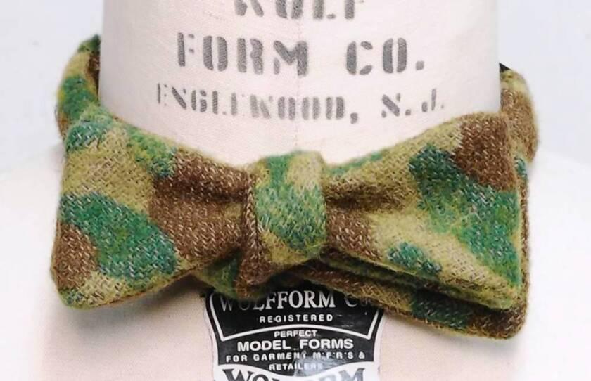 Monitaly camo bow tie, $95 at parkandbond.com.