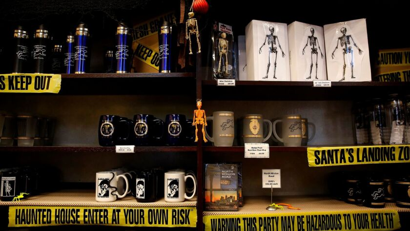 Skeletons in the Closet, the coroner's gift shop