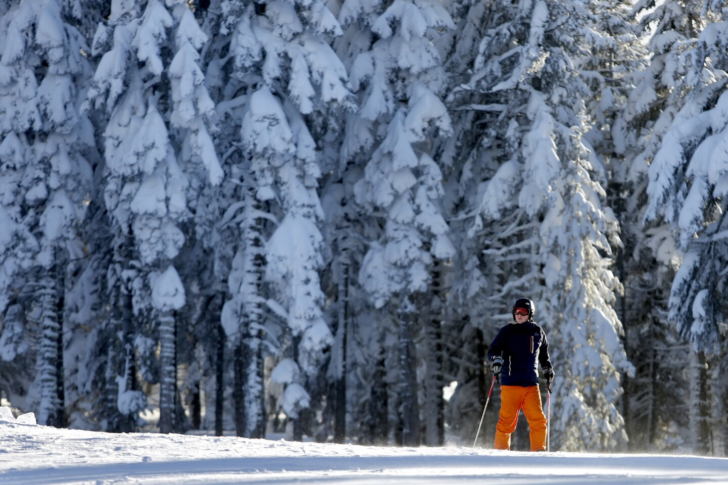 Recent record storms blanket Northstar California Ski Resort with snow, in Truckee, Calif.