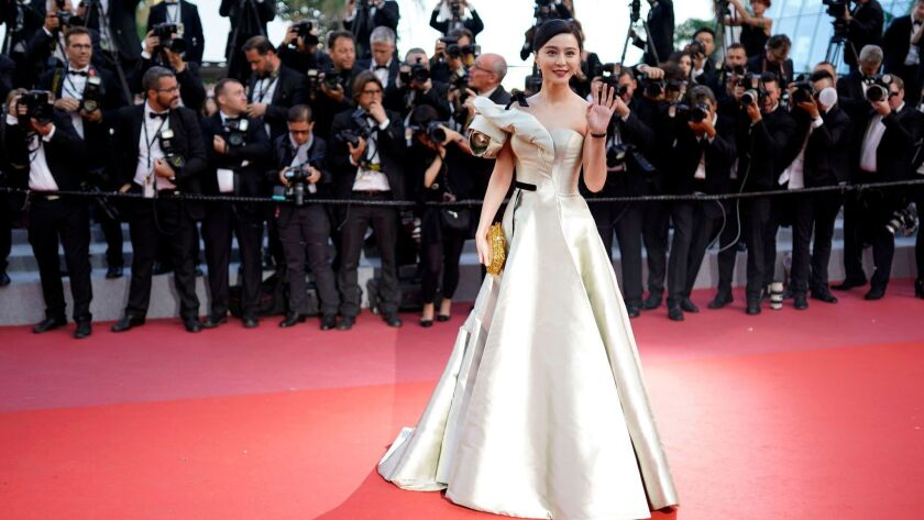 """Chinese actress Fan Bingbing arrives May 11 for the screening of """"Ash Is Purest White"""" during the Cannes Film Festival in France."""