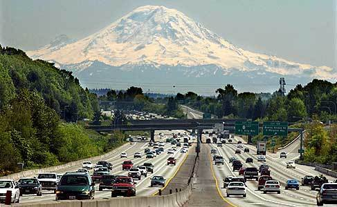 Interstate 5 near Seattle