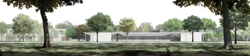 The Menil Drawing Institute, south facade.