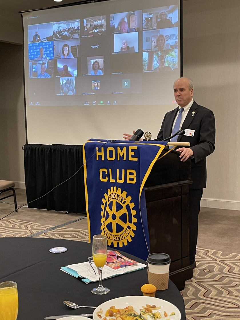 Steve Weitzen, governor of the San Diego and Imperial Valley Rotary District