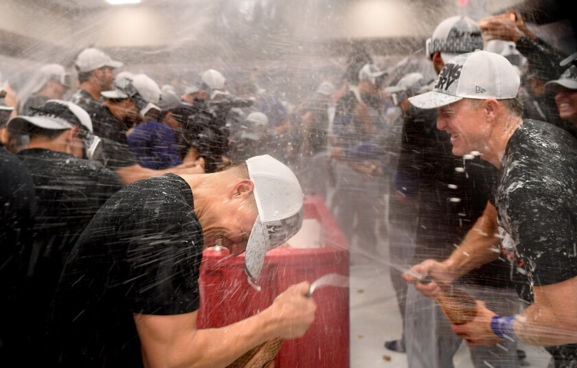 The Dodgers celebrate another visit to the NLCS.