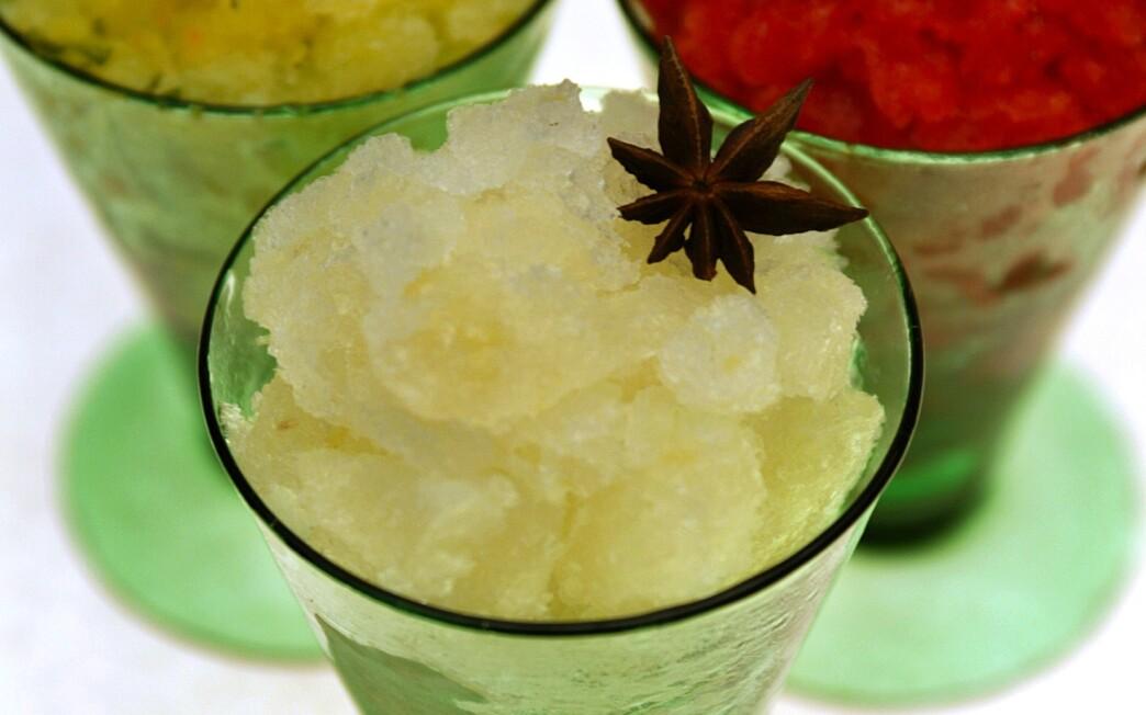 Star anise and grapefruit granita