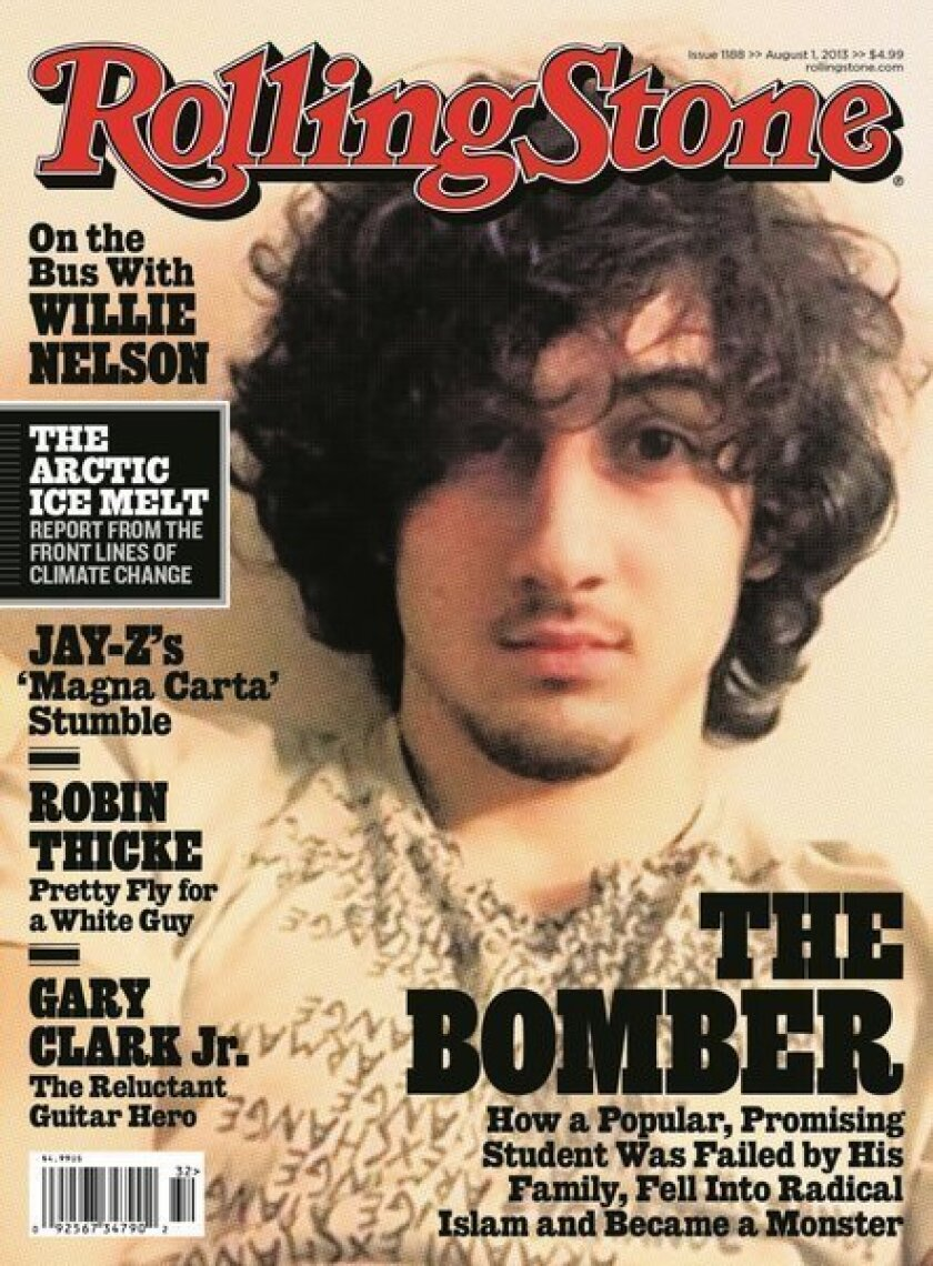 This image courtesy of Rolling Stone magazine shows the Aug. 1, 2013 cover.