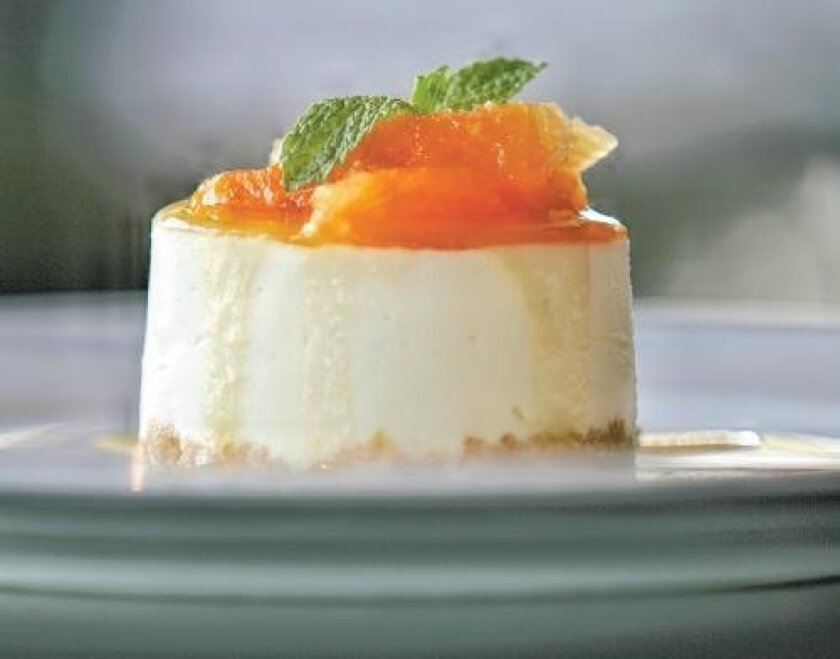 Chef de Cuisine Sarah Linkenheil's Lemon Mousse Cheesecake can be found at Sally's Seafood on the Water at the Manchester Grand Hyatt Hotel.