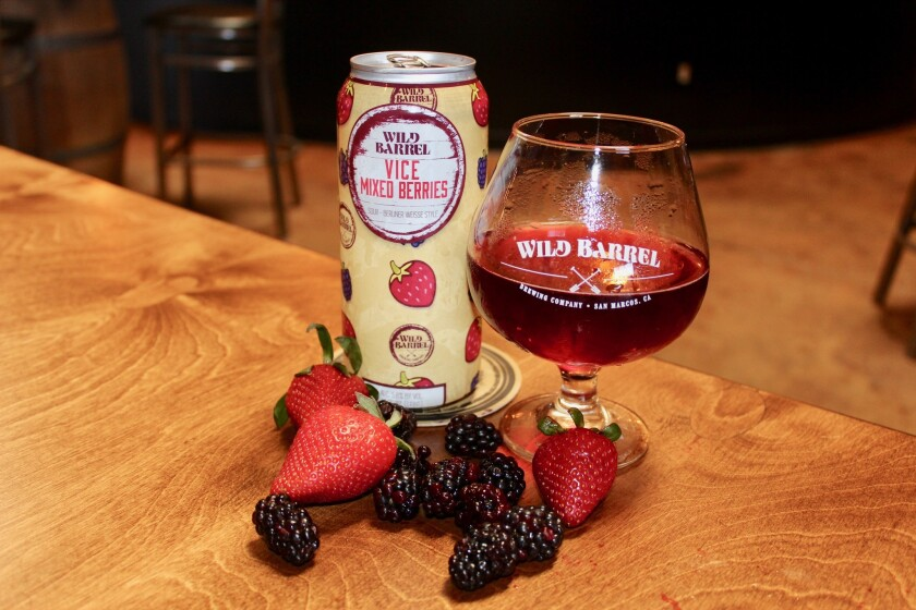 Vice Mixed Berries from Wild Barrel Brewing Company.