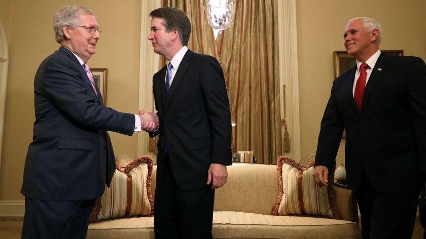 Supreme Court Justice nominee Brett Kavanaugh meets with US Senators, Washington, USA - 10 Jul 2018
