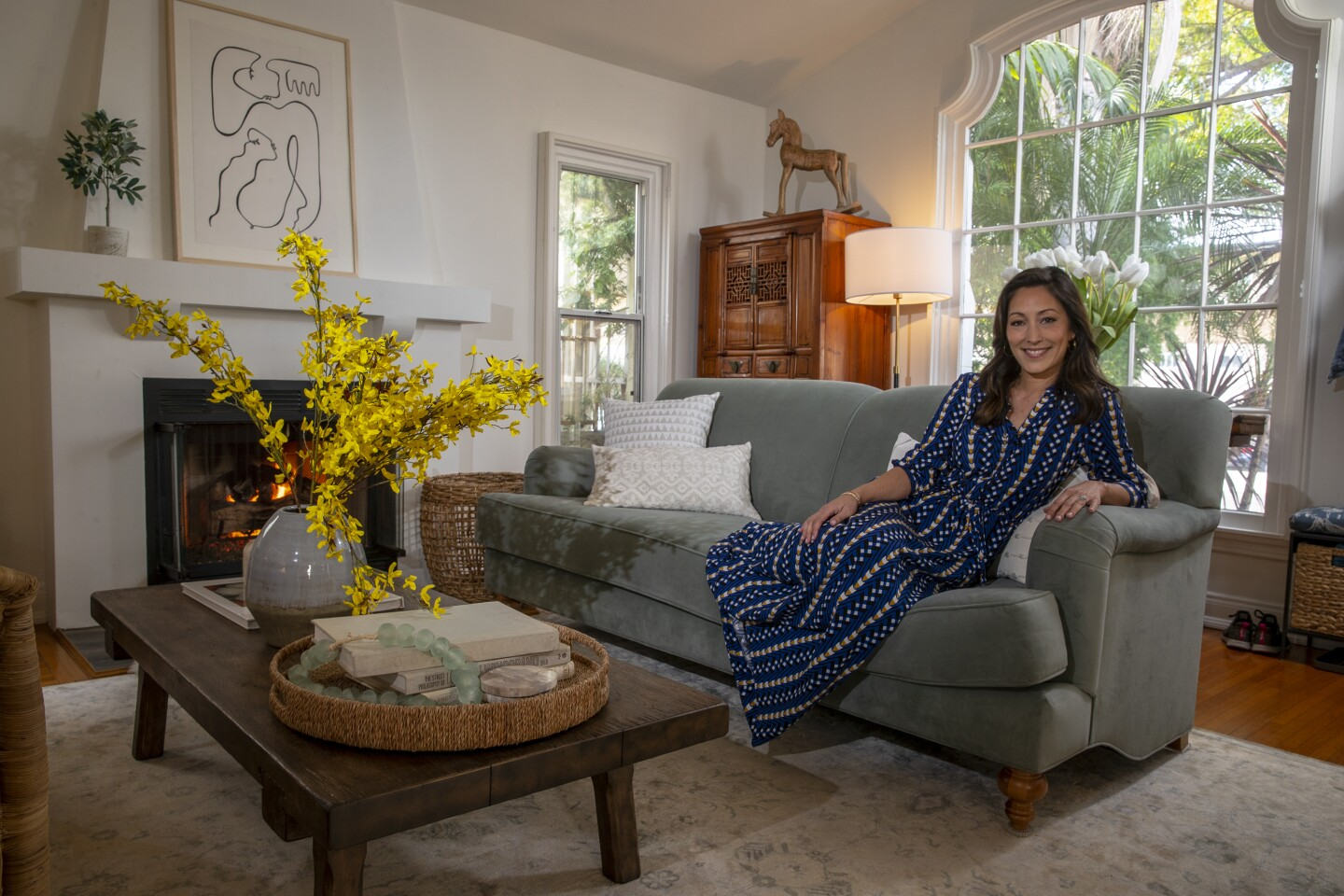 """WEST HOLLYWOOD, CA, FRIDAY, JANUARY 17, 2020 - Actress Christina Chang and her favorite room. She plays Dr. Audry Lim in ABC's """"The Good Doctor."""" (Robert Gauthier/Los Angeles Times)"""