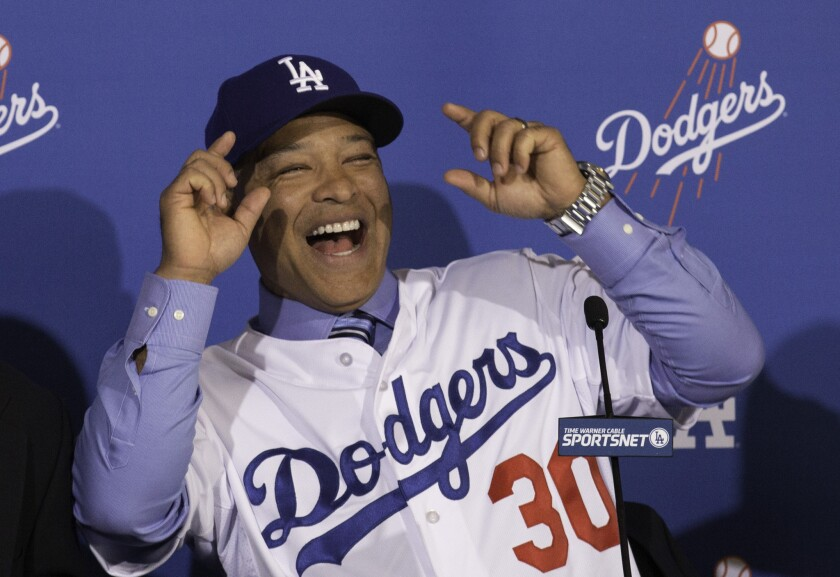 You can bet that Dave Roberts will be all smiles when training camp opens.