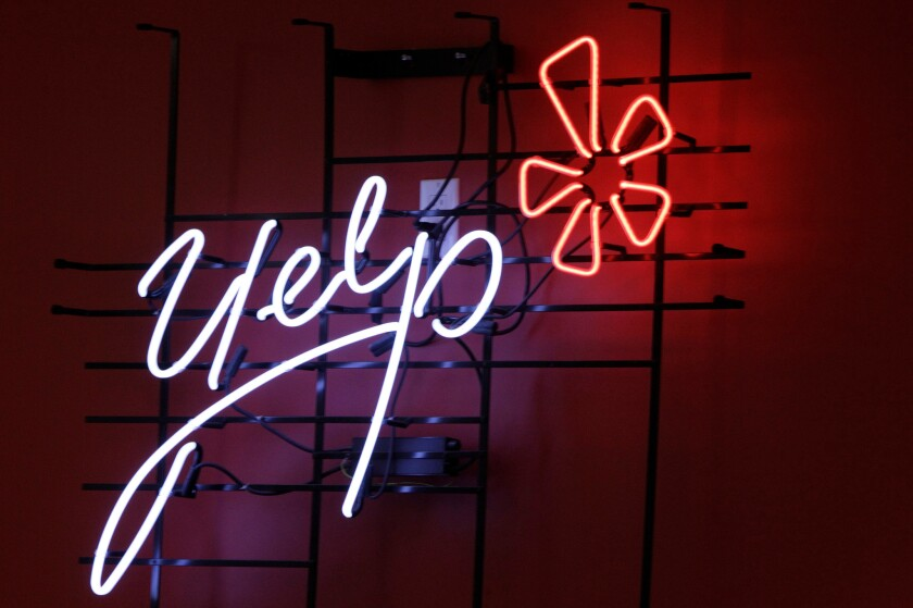 Yelp has taken a defamation case to the California Supreme Court.