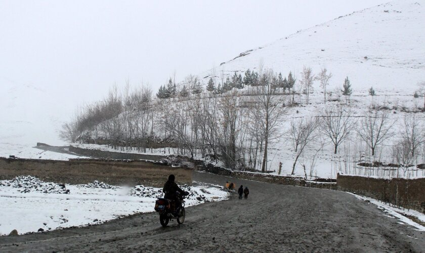 A view of snow-covered mountains in Badakhshan, Afghanistan, on Feb. 5, 2017.