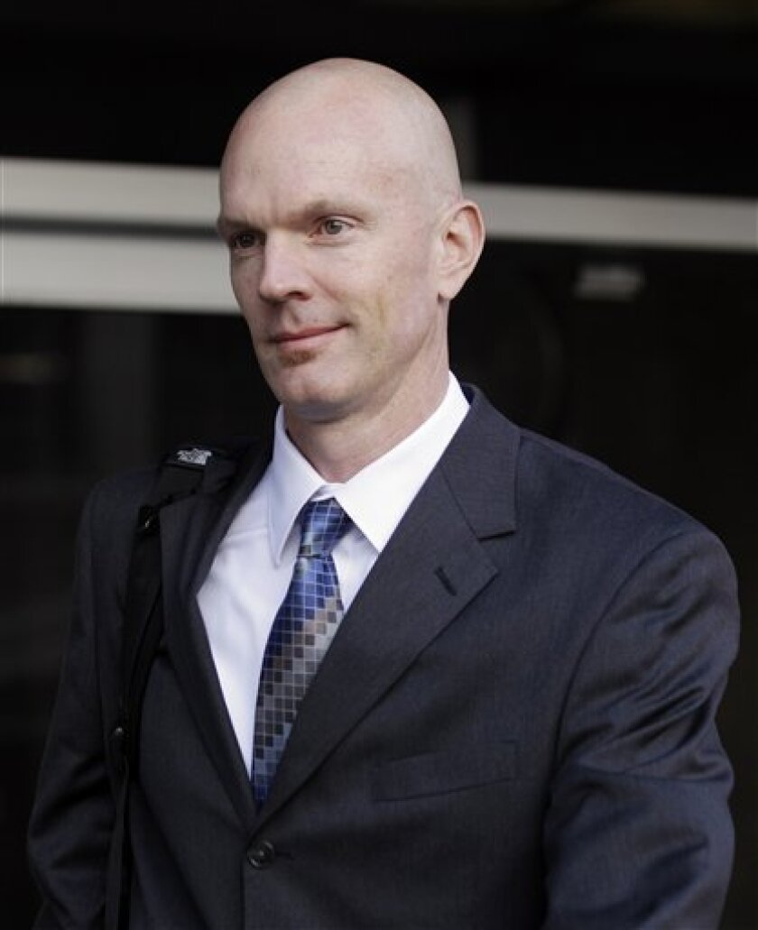 Federal Agent Jeff Novitzky is seen at the federal courthouse in San Francisco, Monday, March 21, 2011. (AP Photo/Marcio Jose Sanchez)