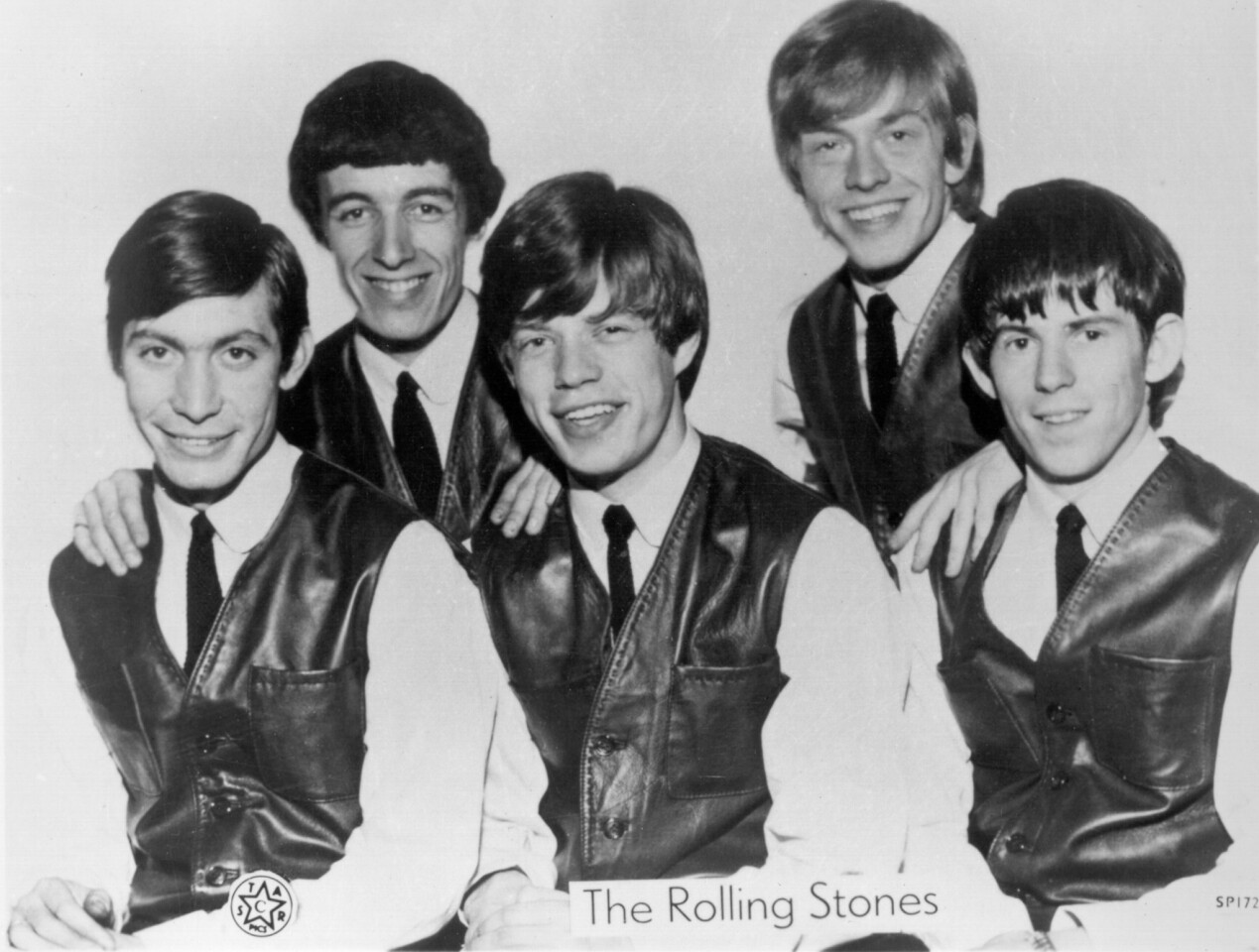 The Rolling Stones in 1962 in London. Charlie Watts, left, Bill Wyman, Mick Jagger, Brian Jones and Keith Richards.