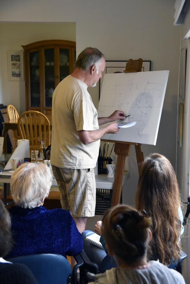 RSF Art Guild hosts acclaimed painter Jeff Yeomans at demo