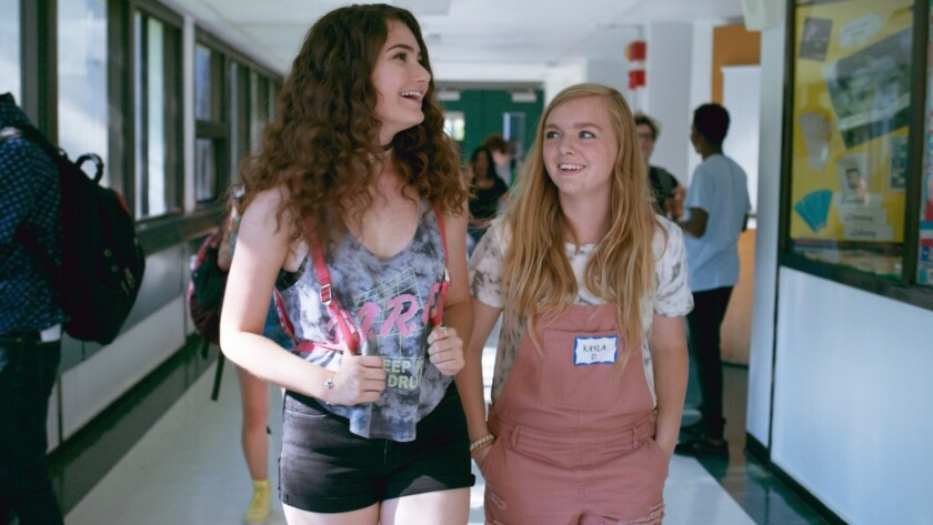 "Elsie Fisher and Emily Robinson in a scene from ""Eighth Grade."" Credit: A24"