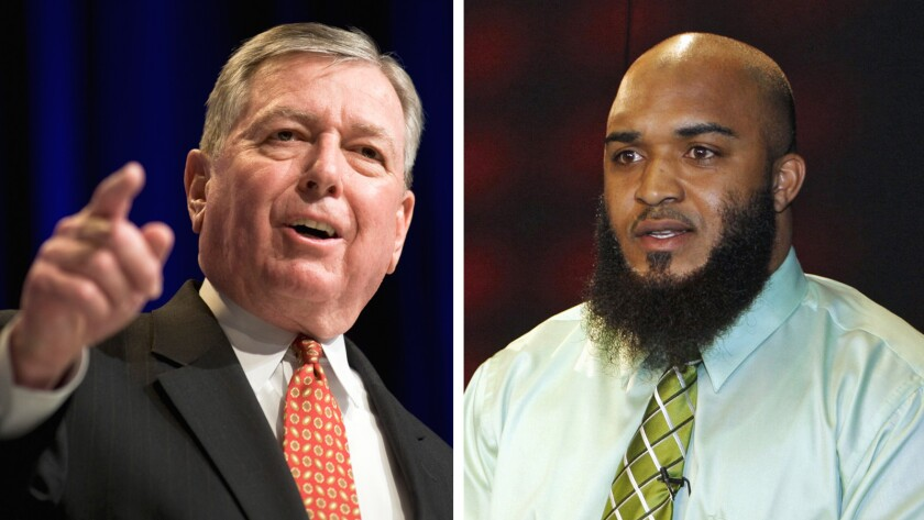 Abdullah al-Kidd, right, sued the government, including former U.S. Atty Gen. John Ashcroft and other officials, after being arrested and held as a potential witness in a terrorism case, according to government documents.