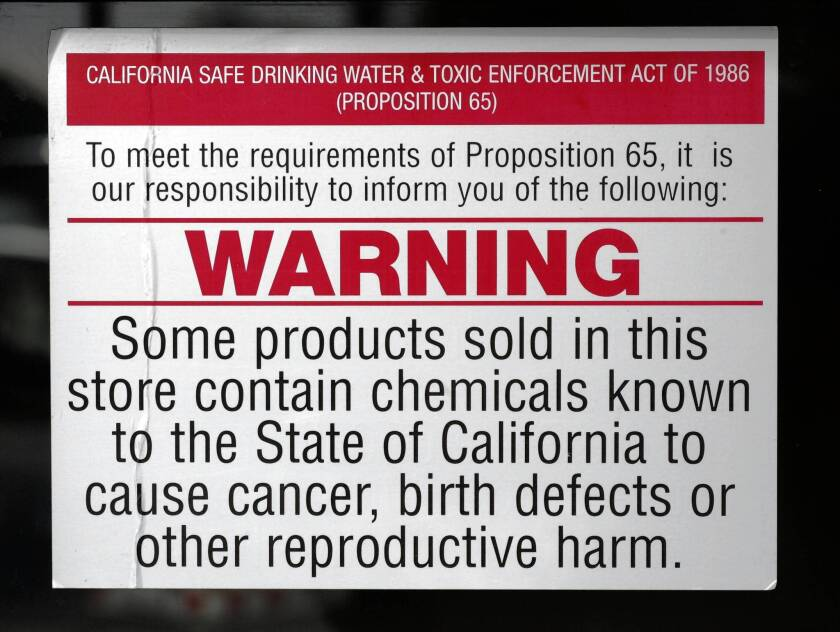 A restaurant owner was threatened with a lawsuit for not posting enough of these warning signs.