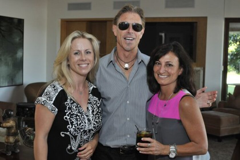 Louise Kerr, Ron Blumberg, hostess Lynn Carlson