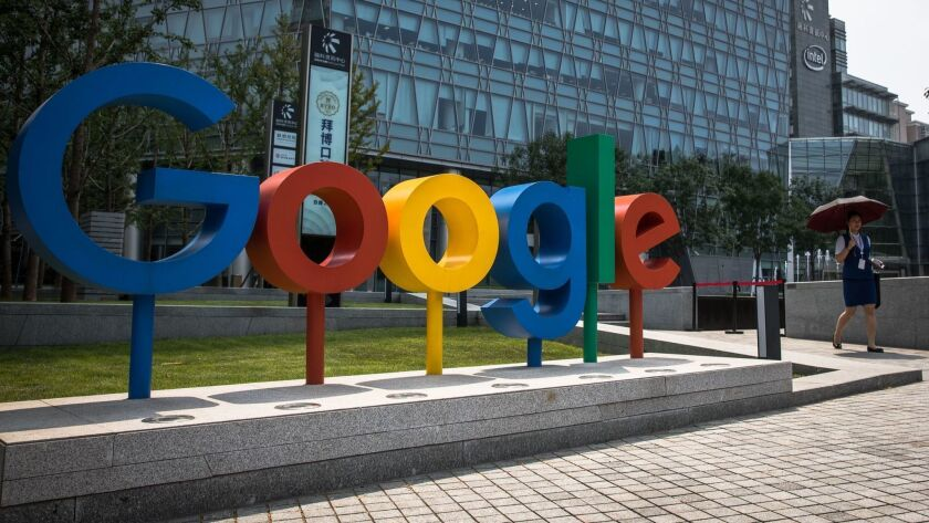 Google's Beijing office. American antitrust officials are under pressure from lawmakers and advocates of tougher enforcement to step up scrutiny of technology giants like Google and Facebook Inc.