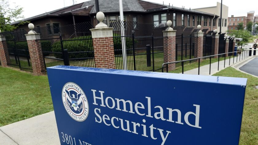 FILE - This June 5, 2015, file photo, shows the Homeland Security Department headquarters in northwe
