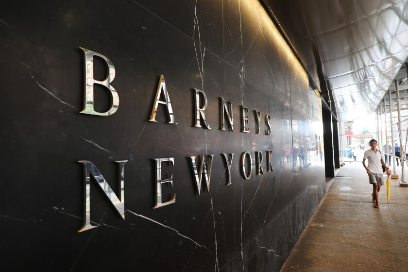 A Barneys store in New York