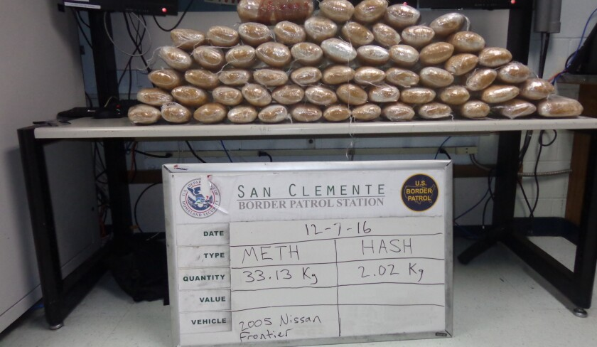 Meth seized from pickup by Border Patrol