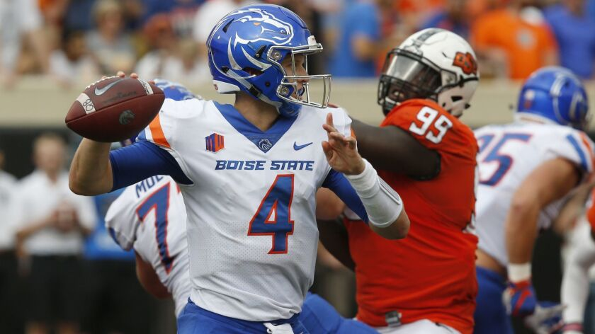 official photos 91845 77bfa Aztecs must find a way to stop Boise State quarterback Brett ...