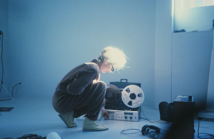 Experimental composer and installation artist Maryanne Amacher in 1985.