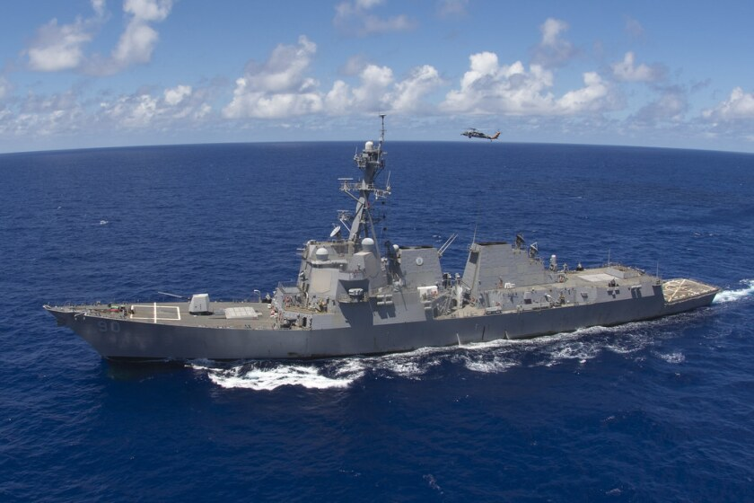 The guided-missile destroyer Chafee, homeported in Hawaii.