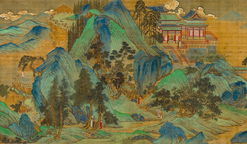 "A detail of ""The Jiucheng Palace"" by Qiu Ying, among the pieces on display in a survey of the Ming dynasty-era painter's works at LACMA."