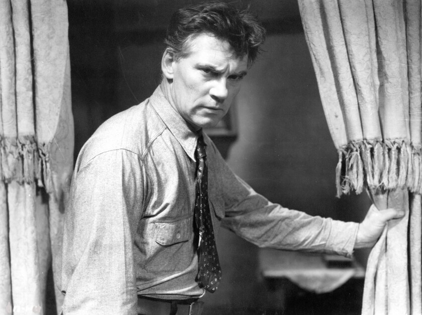 """Walter Huston in """"A House Divided."""""""