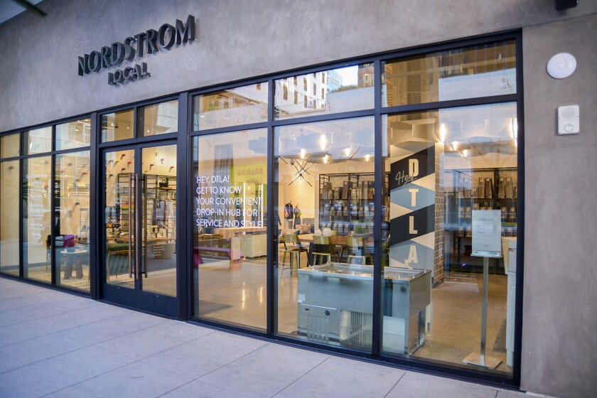 New outposts of Nordstrom Local open in Brentwood and downtown Los Angeles, offering services like p