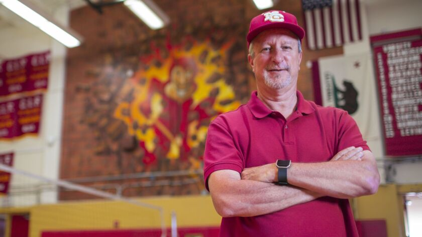 """When I was a student here, it was the golden era for athletics at the school,"" said Greg Lanthier, the new AD at Mt. Carmel High."