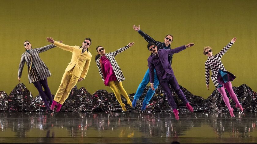The Mark Morris Dance Group performing the California premiere of 'Pepperland' at the Granada Theatre Thursday night.