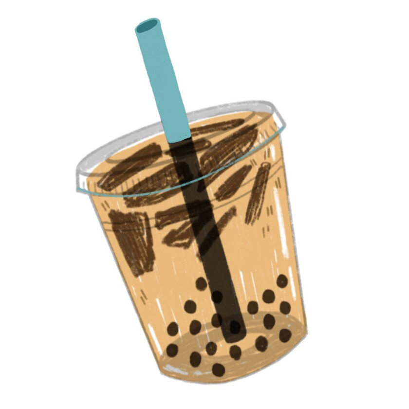 A coffee jelly drink at Bubble U