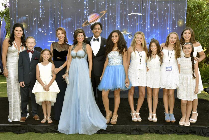 Miracle Babies founders Dr. Sean and Marjan Daneshmand, daughter Natalie, with friends and family