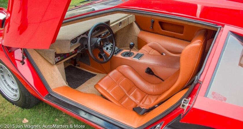 1975 Lamborghini LP400 Countach interior