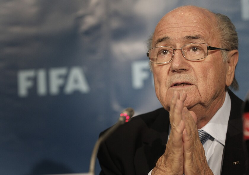 FIFA President Sepp Blatter, shown at a press conference in Morocco in 2014.