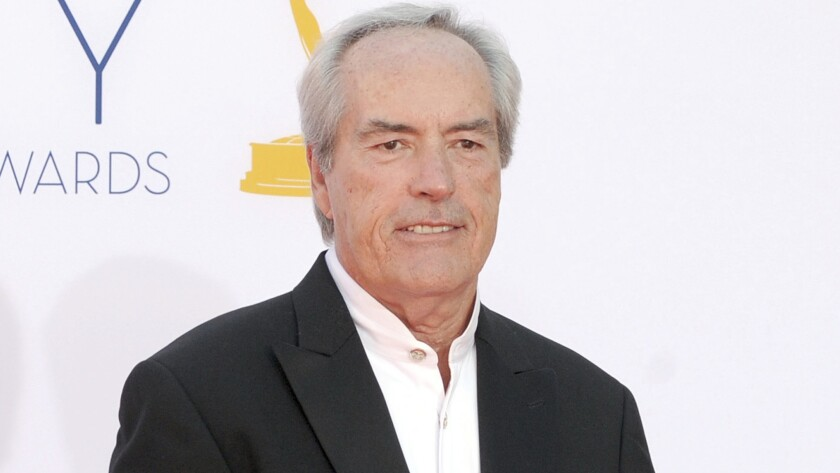 Powers Boothe arrives at the 64th Primetime Emmy Awards in Los Angeles on Sept. 23, 2012.
